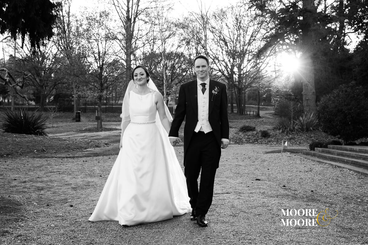 Bride and Groom Portraits. Wedding Photography at Beaumont House, Windsor