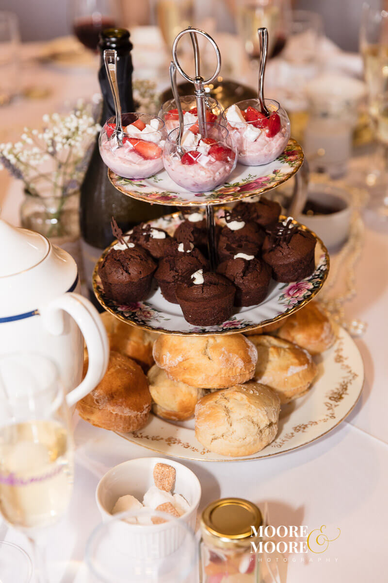 Afternoon Tea - Wedding Photography at Gilbert White & The Oates Collections Barn, Selborne