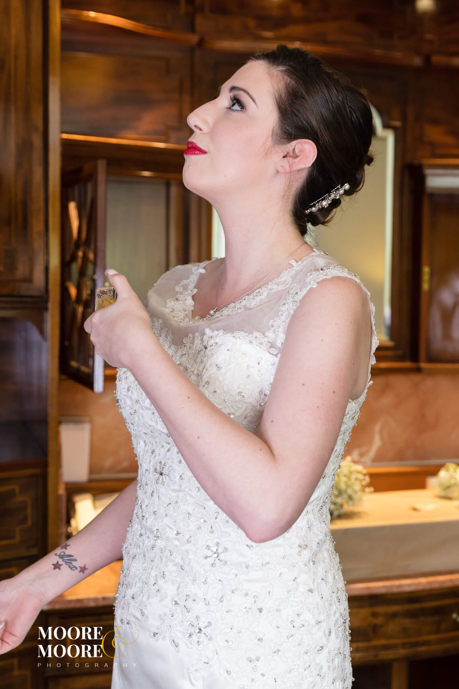 Adding the final touches. Must have wedding photos. Wedding Photographer Hampshire, Berkshire, Surrey