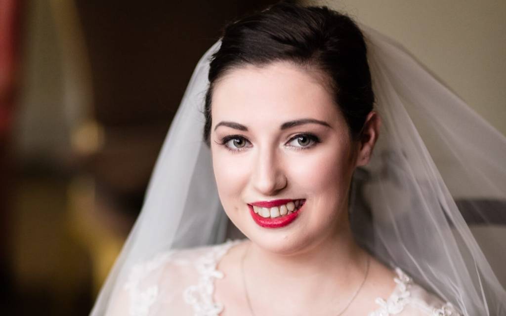 bridal portrait by Moore & Moore Photography, wedding photographers