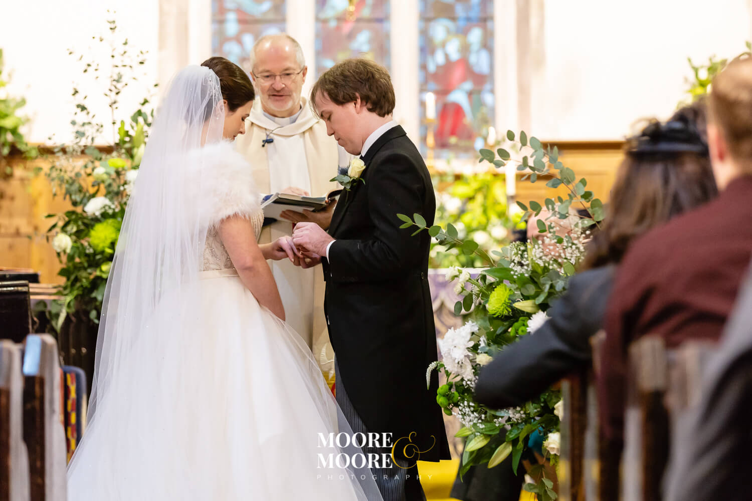 December Church Wedding, Medstead, by Moore & Moore Photography, Fleet, Hampshire