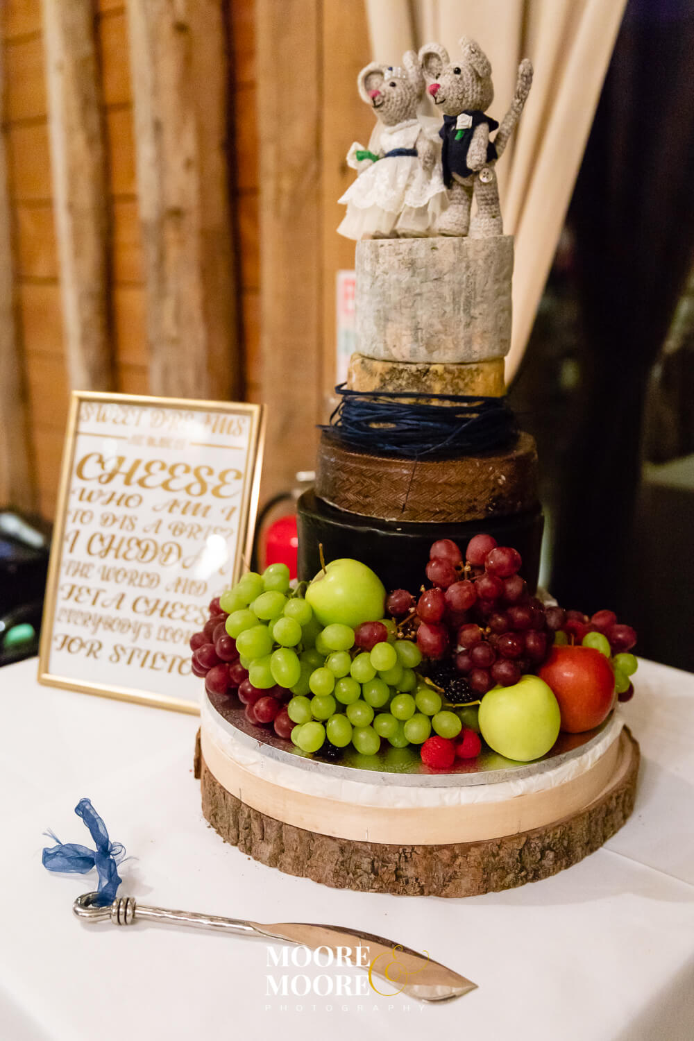 Cheese Wedding Cake. Wedding Photography by Moore & Moore Photography, Fleet, Hampshire