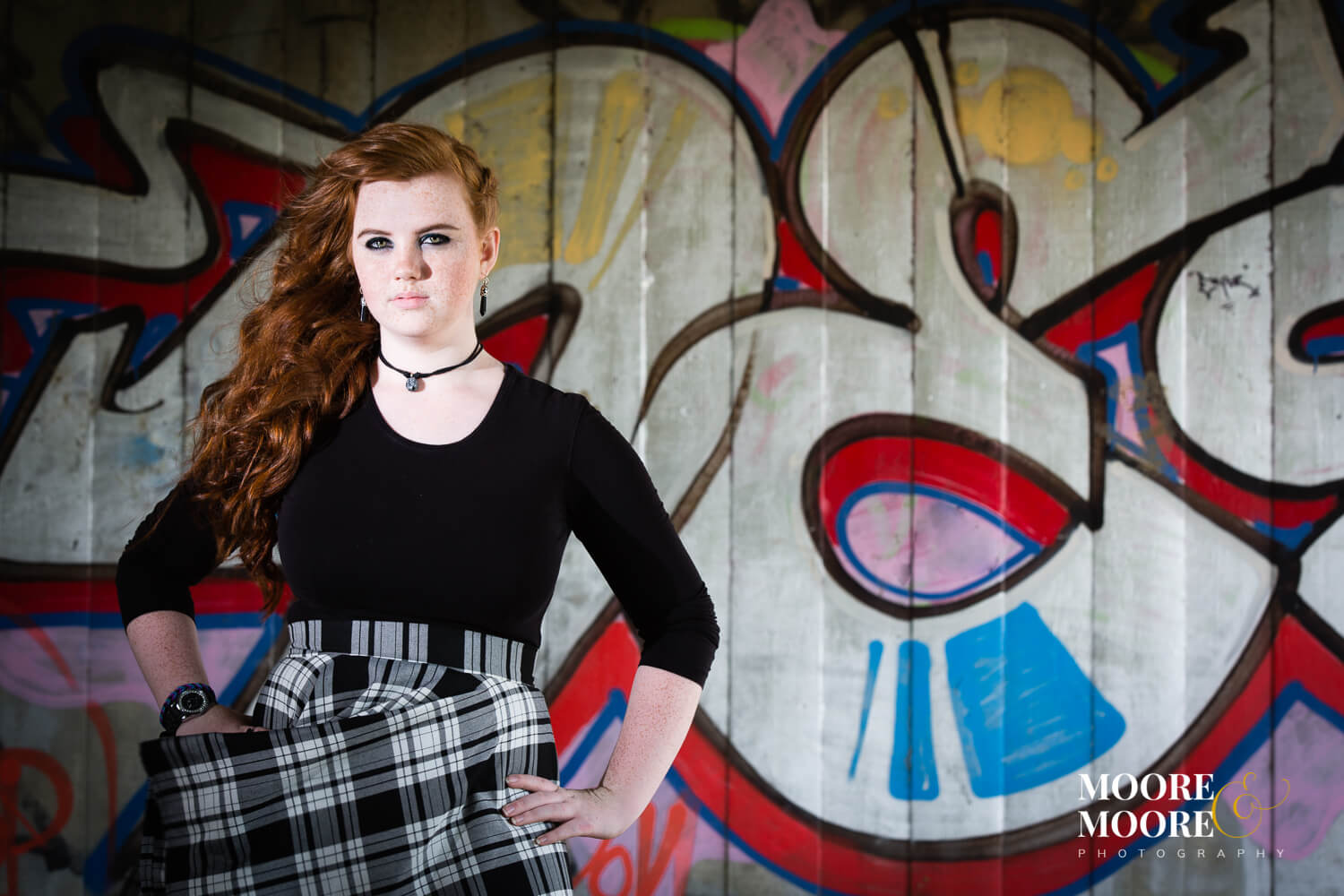 urban with graffiti prom-year-photography-by-moore-moore-photography-hampshire