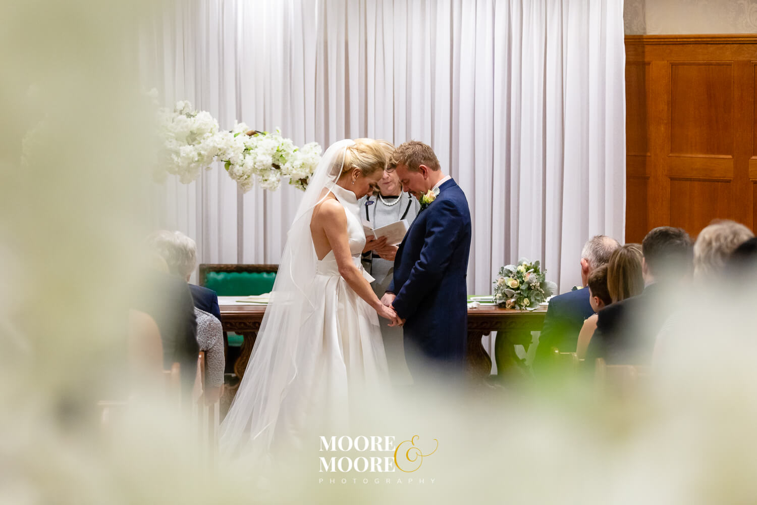 Bride and groom beautiful ceremony photo. Wedding Photos by Moore & Moore Photography, Hampshire