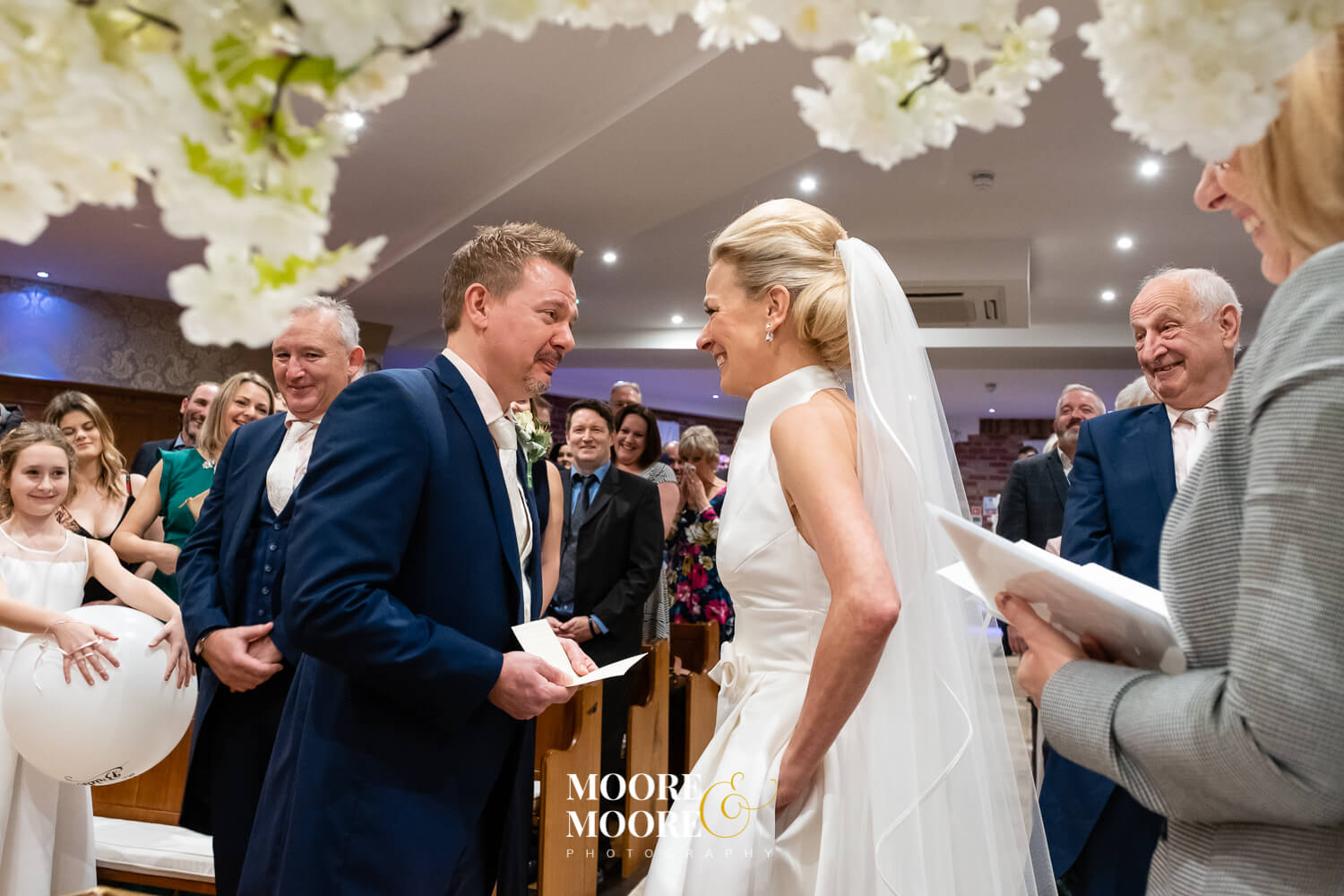 Bride and Groom personal vows. Wedding Photos by Moore & Moore Photography, Hampshire