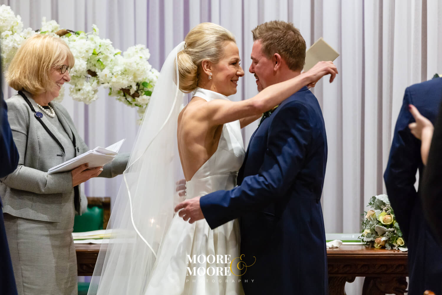 Perfect moments at wedding ceremony. Wedding Photos by Moore & Moore Photography, Hampshire