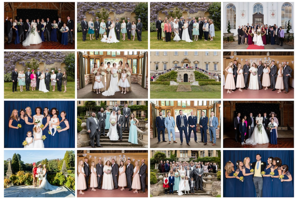 Group photographs at Weddings. Wedding photos by Moore & Moore Photography, Hampshire