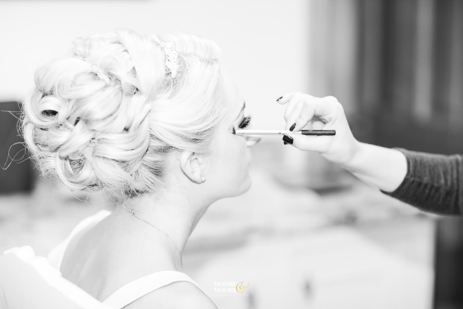 Bridal preparations. Tylney Hall Wedding Photography by Moore & Moore Photography, Hampshire