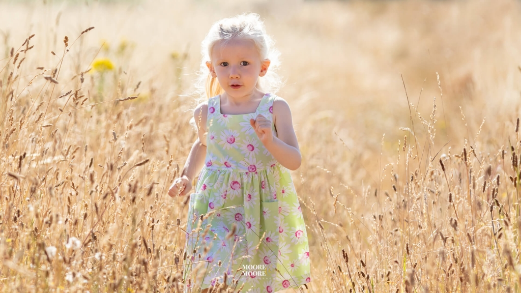 Outdoor Child portrait photography by Moore & Moore Photography