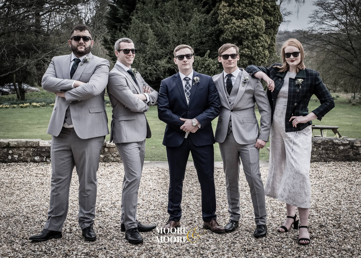 Cool groomsmen photo. Farnham House Hotel Wedding Photography by Moore & Moore Photography, Fleet, Hampshire