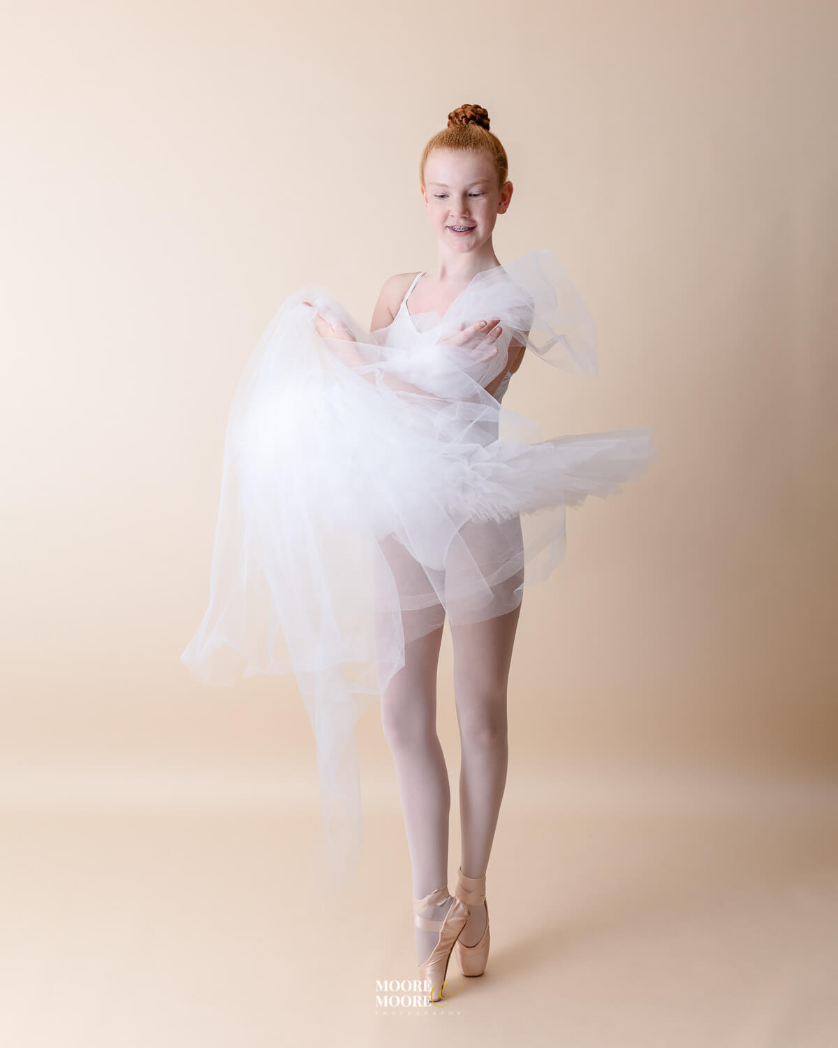 Ballet Dancer on pointe shoes Moore & Moore Photography
