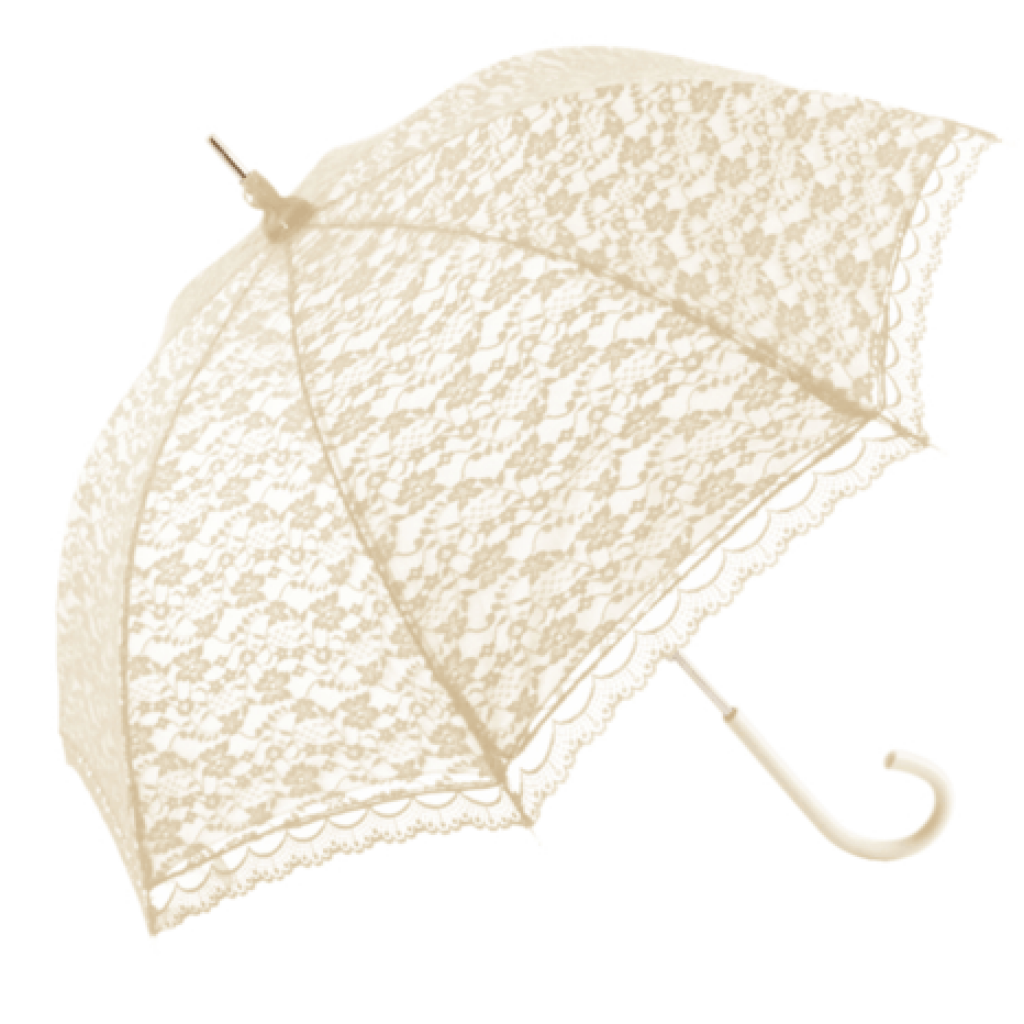 WEDDING UMBRELLA ROMANTICA LACE UMBRELLA - IVORY