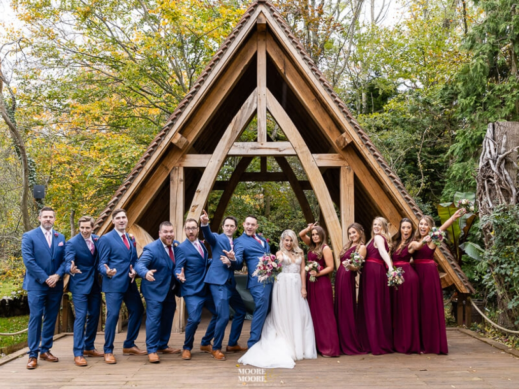 top-must-have-wedding-photos-bridal-party-fun. Wedding Photographer Hampshire, Berkshire, Oxfordshire and Surrey