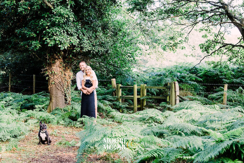 Pre-Wedding Engagement Photoshoot with pet dog in Fleet Hampshire by Moore & Moore Photography