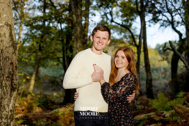 Autumn Pre-wedding engagement photoshoot in Fleet Hampshire by Moore & Moore Photography