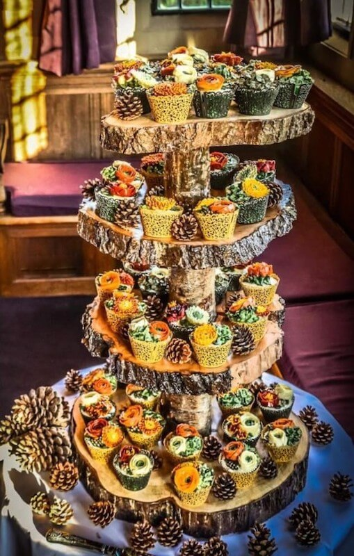 autumnal-wedding cake