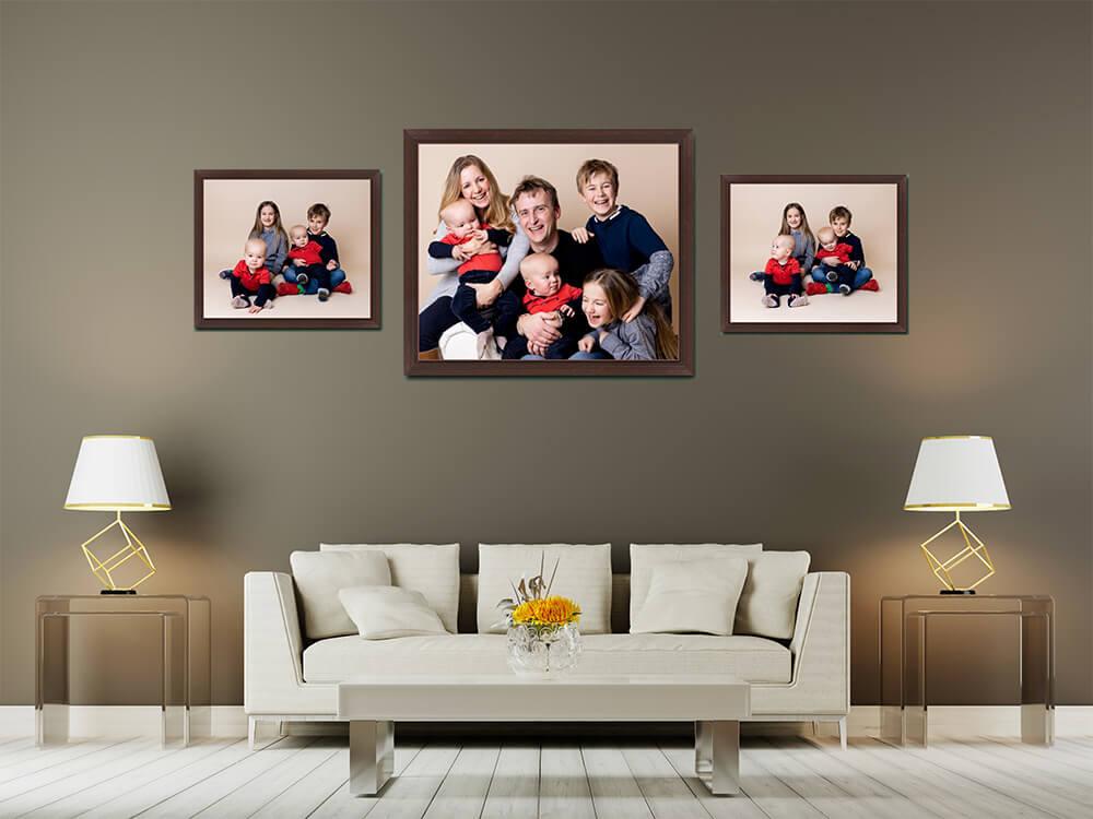 Family Portraits lounge view wall art