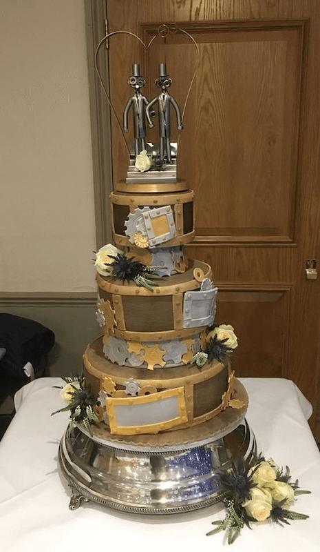 Steam Punk Industrial Wedding Cake