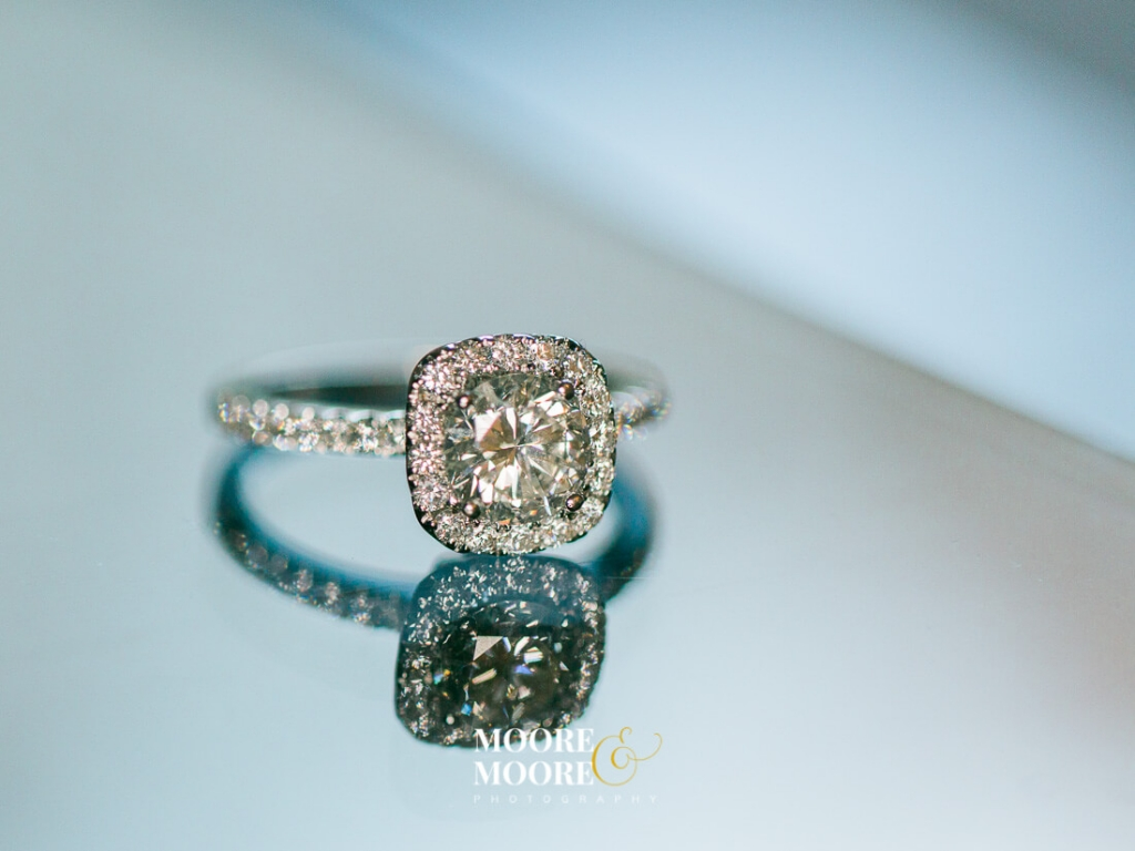 Wedding Ring Photography by Moore & Moore Photography diamond ring